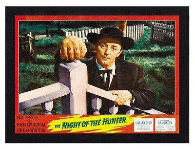 Framed The Night Of The Hunter Movie Poster A4 Size In Black Or White Frame