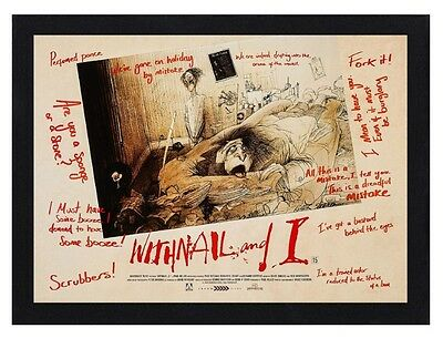 Framed Withnail & I Movie / Film Poster A4 Size Mounted In Black Or White Frame