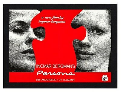 Framed Persona Movie / Film Poster A4 Size Mounted In Black Or White Frame