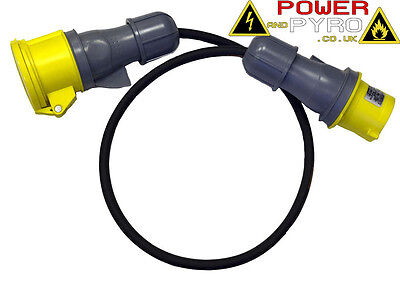1-40M 32A 110V IP44 Mains Power Extension Cable Lead Ready Made Cable