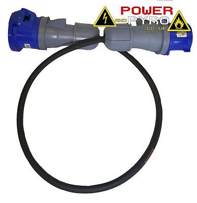 1-40M 32A 230 / 240 V IP44 Mains Power Extension Cable Lead Ready Made Cable