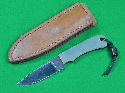 Vintage US Custom Hand Made Marked Hunting Fighting Knife w/ Sheath