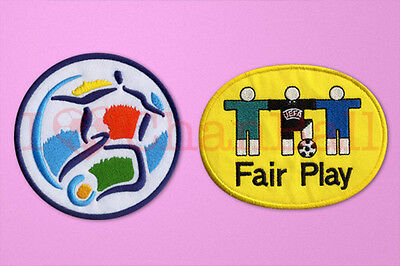 UEFA Euro Champions 1996 + Fair Play Football Sleeve Embroidery Soccer Patch