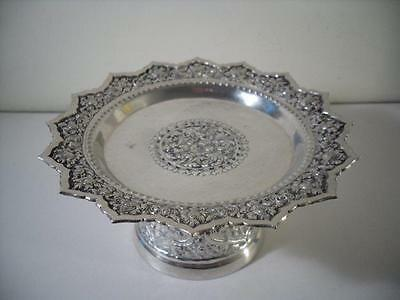 An Antique Islamic Middlle Eastern / Indian Silver Compote : c1890