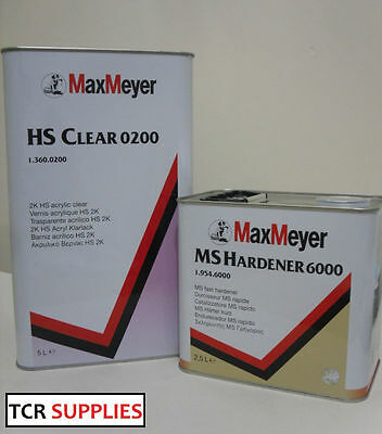 Max Meyer 0200 Lacquer With 6000 Hardner 7.5 Ltr Kit