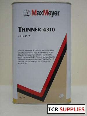 Max Meyer 2K Universal Thinners 5ltr 4310 Paint/Basecoat/Lacquers Thinner