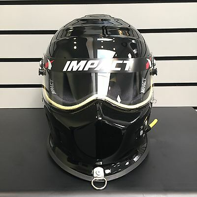 NEW Impact Drag Champ Helmet XS Gloss Black SNELL 2010 13599210 Made in the USA