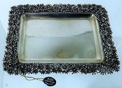 Giovanni Raspini Vuotatasche In Argento 925 Silver Sterling Tray Tidy Daisies 44