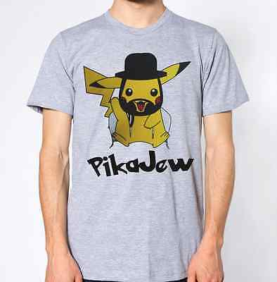 Pikajew T-Shirt Jewish Top Jew Religion Pika Cartoon Funny