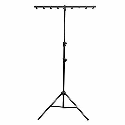 Chauvet CH06 9-Feet Lightweight Lighting Stand with T Bar and 50 LB Capacity