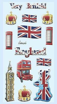 England Reise Urlaub * Softy Design Sticker * Aufkleber Scrapbooking Dekoration