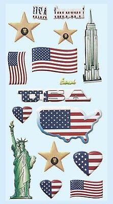 USA Amerika Reise * Softy Design Sticker * Aufkleber Scrapbooking Dekoration