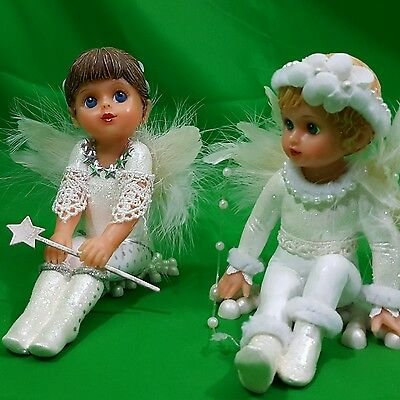 "Ashton drake Galleries Dolls Blessing of wonder Angels White Wings 5"" Tall"
