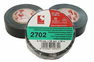SCAPA kfz Insulated Tape 2702 19mm x 20m (Set Of 3) Adhesive
