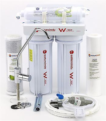 3 STAGES WATER FILTER AUSTRALIAN STANDARD UNDERSINK, DOUBLE O RING 5 micron