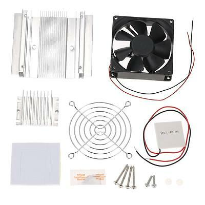 60W DIY Thermoelectric Peltier Refrigeration Cooling System Kit Cooler Fan P8N8