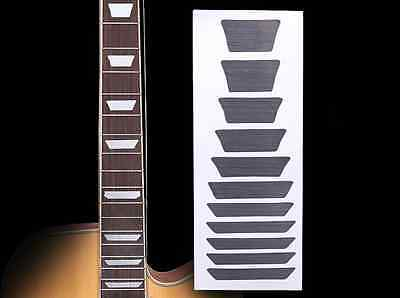 Fretboard Markers Inlay Sticker Decal for Guitar & Bass ,Sliver trapezoid