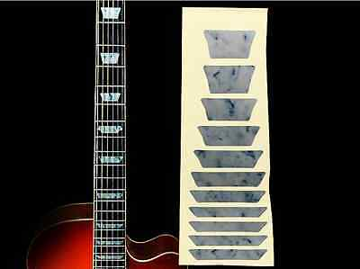 Fretboard Markers Inlay Sticker Decal for Guitar & Bass ,White Pearl trapezoid