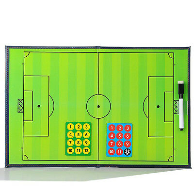 Portable Foldable Coach Board Soccer Football Sports Tactical Magnetic PU Board