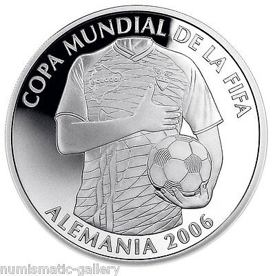 ECUADOR 25,000 SUCRES 2006 Silver PF SOCCER WORLD CUP - GERMANY