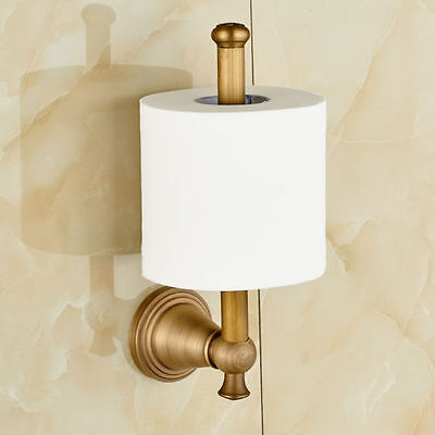 Wall Mounted Bathroom Toilet Paper Holder Antique Brass Roll Tissue Holder