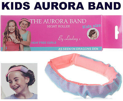 The Aurora Band Kids Childrens Sleep In Night Roller Hair Band Curls Dragons Den