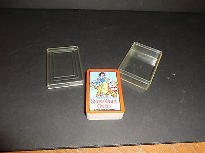 """Snow White on Ice Miniature Playing Cards Sealed with Plastic Case 1.5""""x2"""""""