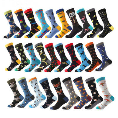 1 Pairs Mens Cotton Socks Warm The Avengers Super Hero Casual Dress Socks 9-12