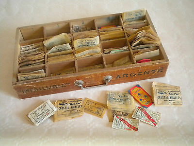 Vintage old stock approx 400 packets of fishing hooks Hamecons Infaillible etc