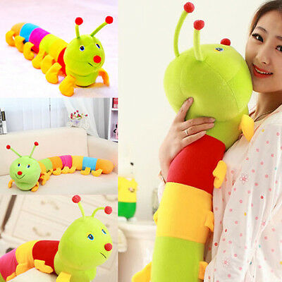 Colorfull Baby Kids Children Plush Worm Toys Soft Wild Cuddle Hold Pillow Animal