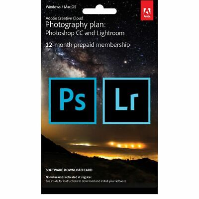 Adobe Creative Cloud Photography Plan 12 Month Card