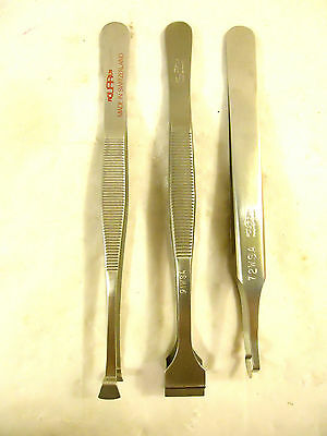 Aquarius Wafer and Component Tweezers, 3 Styles, NEW, Switzerland.
