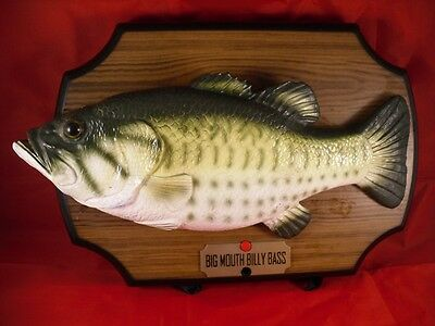 Gemmy big mouth billy bass wall plaque motion activated for Big mouth billy bass singing fish