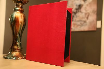 "25pcs Red, Lizard texured, Restaurant Menu Covers size: 8.5""x11"""