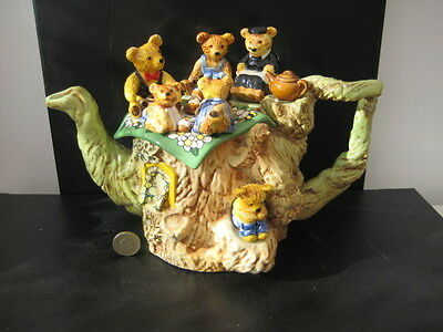 Very Rare Cardew Made In England Limited Edition Large Teapot Teddy Bears Picnic