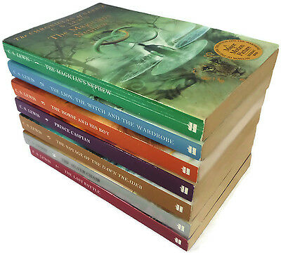 The Chronicles of Narnia Complete Book Set 7 Books C.S. Lewis Harper Trophy 2002