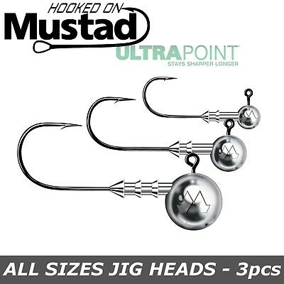 Mustad Classic Jig Head UltraPoint Pike Predator Tackle Soft Lures Jig Heads