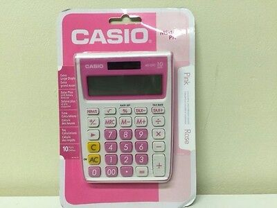 NEW Casio MS-10VC Standard Function Calculator XL Display Pink