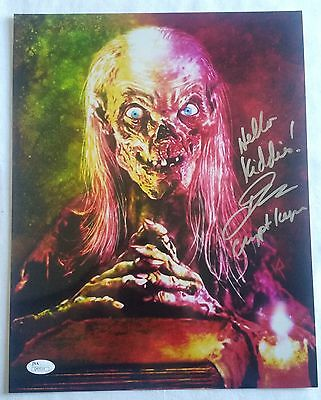 John Kassir SIGNED 11x14 PHOTO Autograph Tales from the Crypt Keeper JSA COA 3
