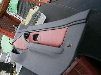 BMW Z3 Red Leather ( Tanin Red ) Door Cards - Side Airbag versions