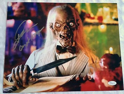 John Kassir SIGNED 11x14 PHOTO Autograph Tales from the Crypt Keeper JSA COA 6