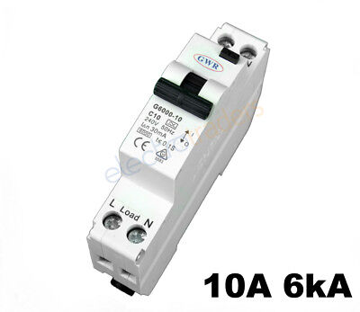 Safety Switch Circuit Breaker Combination RCBO 10 Amp 6Ka Rated GWR