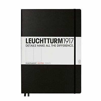 Notebook Master A4+ dotted Black