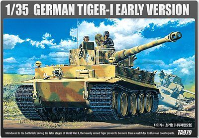 Academy 1/35 Plastic Model Kit German TIGER-I Early Production #13239