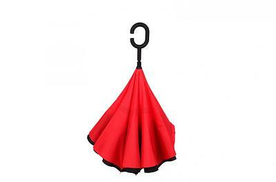 New Modern Upside Down Reverse Umbrella C-Handle Double Layer Inside-Out 13Color