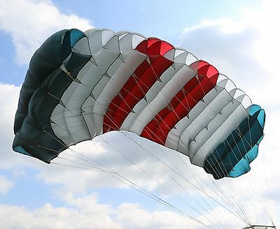 Raider - 220 sq ft  skydiving parachute canopy 9 cell F111 - good shape