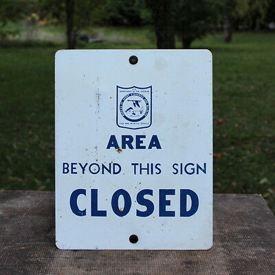 Bureau Of Sport Fisheries And Wildlife Area Beyond This Sign Closed