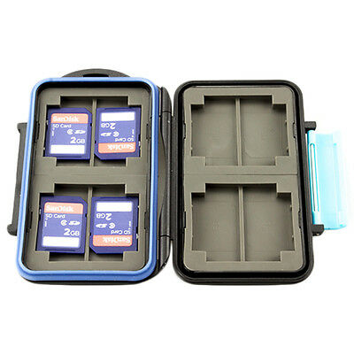JJC Anti-shock Water-resistant Holder Storage Memory Card Case For 4CF 8SD MC-2