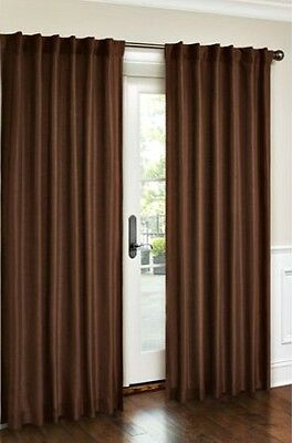 New Canopy Faux Silk Lined Drapery Curtain Panel 54x95 Rich Brown & NEW CANOPY FAUX Silk Lined Drapery Curtain Panel 54x95 Rich Brown ...