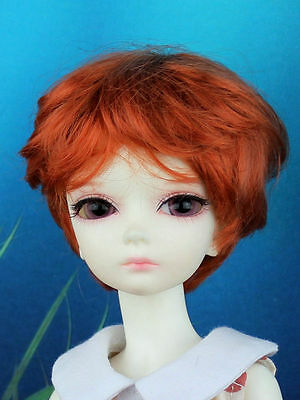"""4-5"""" Carrot Synthetic Mohair Short Wig for Bisou AI 1/12 BB BJD Doll"""